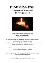 Friedenslicht-Andacht 13. Dezember 2020
