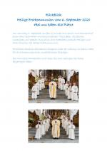 Rückblick Heilige Erstkommunion 6.9.20